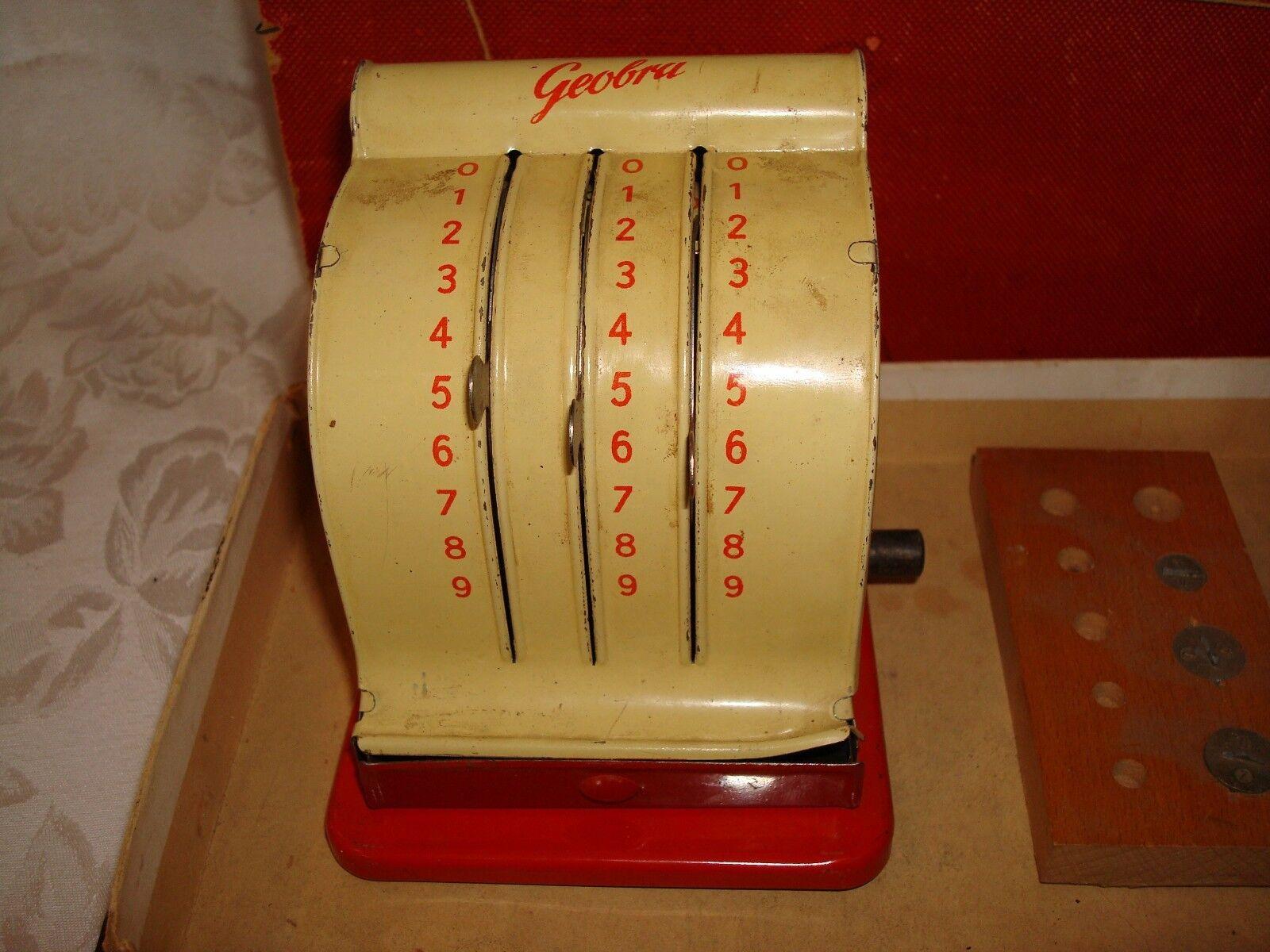 ANTIQUE EARLY PLAYMOBIL PLAYMOBIL PLAYMOBIL 1930's GEOBRA TIN TOY SHOP 4 PIECE SET ORIGINAL BOX RARE 45d9c9