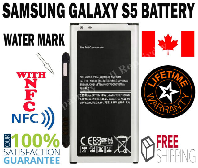 New Replacement Samsung Galaxy S5 with NFC Battery 2800mAh 3.85V  EB-BG900BBC