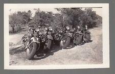[J58173] Circa 1940's PHOTOGRAPH U.S. SERVICE MEMBERS' MOTORCYCLES
