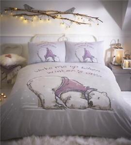 little bear duvet set bedding sleeping winter polar bear. Black Bedroom Furniture Sets. Home Design Ideas