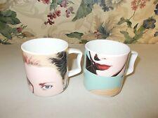 Princess Grace Andy Warhol Mugs Set Of 2 Rosenthal Studio-Line Stackable Art