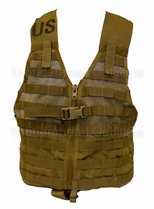 USMC-MOLLE-FLC-Fighting-Load-Carrier-Vest-COYOTE-Military-Tactical-LBV-EXC