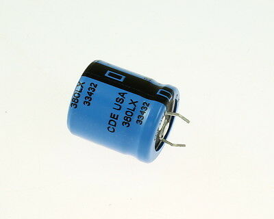 2x 330uF 500V Radial Snap In Mount Electrolytic Capacitor mfd DC Audio 85C
