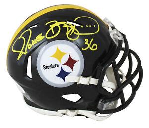 Steelers Jerome Bettis Authentic Signed Speed Mini Helmet BAS Witnessed