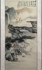 Excellent-Chinese-Hanging-Painting-amp-Scroll-Landscape-By-Zhang-Daqian-ZZ918A