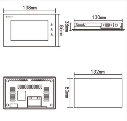 EA-043 Y environ 10.92 cm Samkoon commande d/'affichage écran tactile 4.3 in