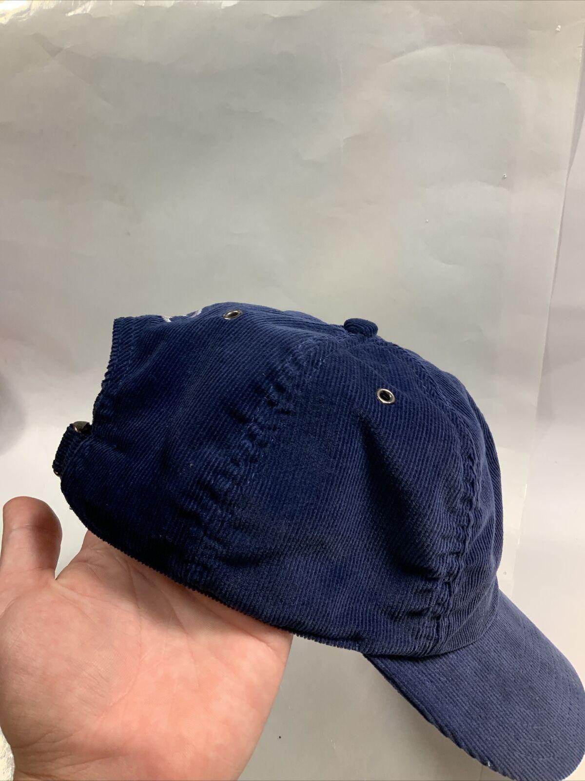 Vintage Nike Hat Corduroy 80s - 90'S Blue AUTHENT… - image 4