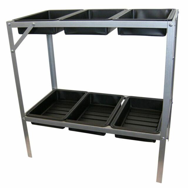Nature Table étagère de rempotage pliante avec 6 plateaux Table pour plantes