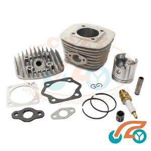 47mm-Cylinder-Head-Set-amp-Piston-Kit-For-80CC-Motorized-Bicycle-Bike-Engine-Parts