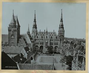 Allemagne-Aachen-Rathhaus-Vintage-print-Germany-Photomecanique-24x30-C