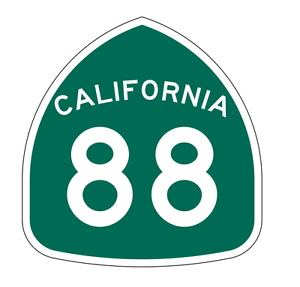 Details about California State Route 88 Sticker Decal R1172 Highway Sign
