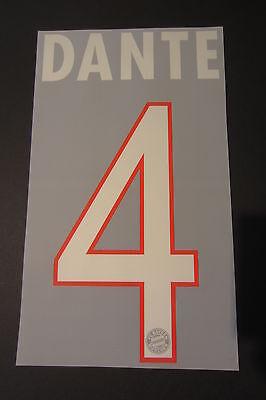 Original Bayern München Flock Champions League Nummer 4 Dante Kinder