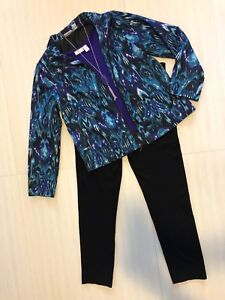 Euc! Top; Capris; Necklace Women's Chico's Sz 1.0 Outfit
