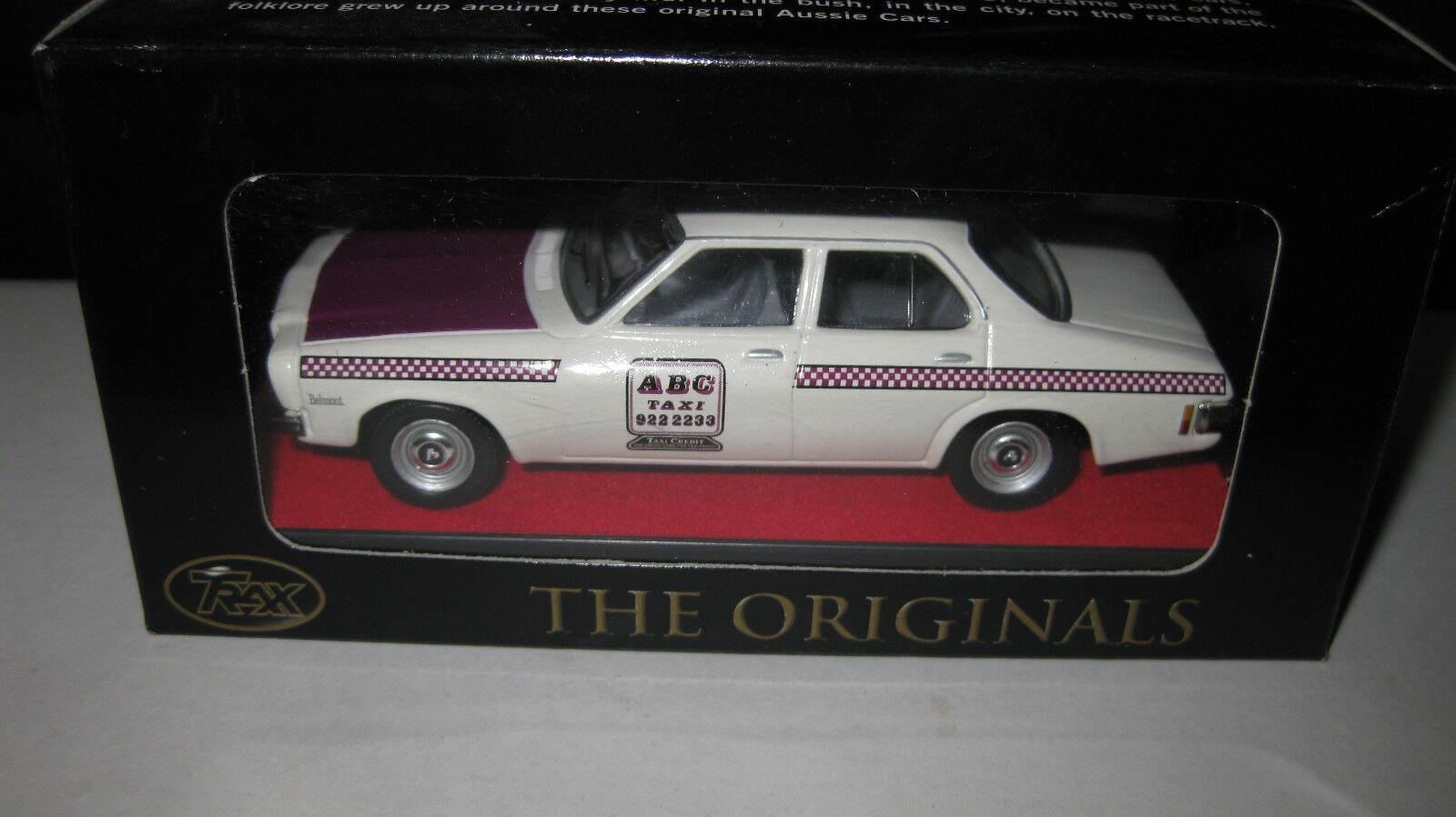 TRAX 1 43 HOLDEN HQ BELMONT TAXI SERIES ABC RADIO CAB  BOXED HARD TO FIND TR17J