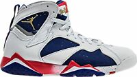 Air Jordan Retro 7 Vii olympic Tinker White Blue Red Mens 100% Authentic