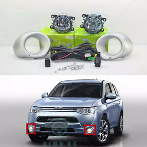 Details about new Fog Light Lamps & Harness Switch Kit for Mitsubishi  Outlander 2013-2015