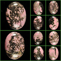 """40mm Rhodonite oval focal flatback cab cabochon for jewelry making 1 1/2"""""""