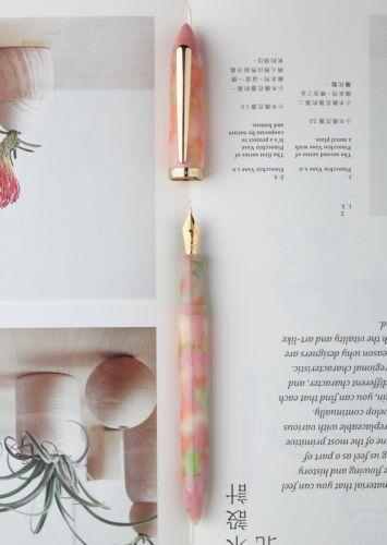 EF Bent Nib Pen Gift Box Set Moonman S1 Pink Resin Fountain Pen  F