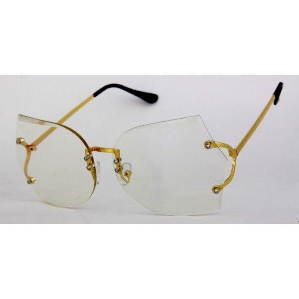HUGE Oversized Vintage 70s Retro Style Clear Lens Eye Glasses ...