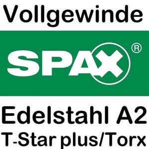 Spax-Edelstahl-Senkkopf-Spanplattenschrauben-V2A-Torx-Vollgewinde