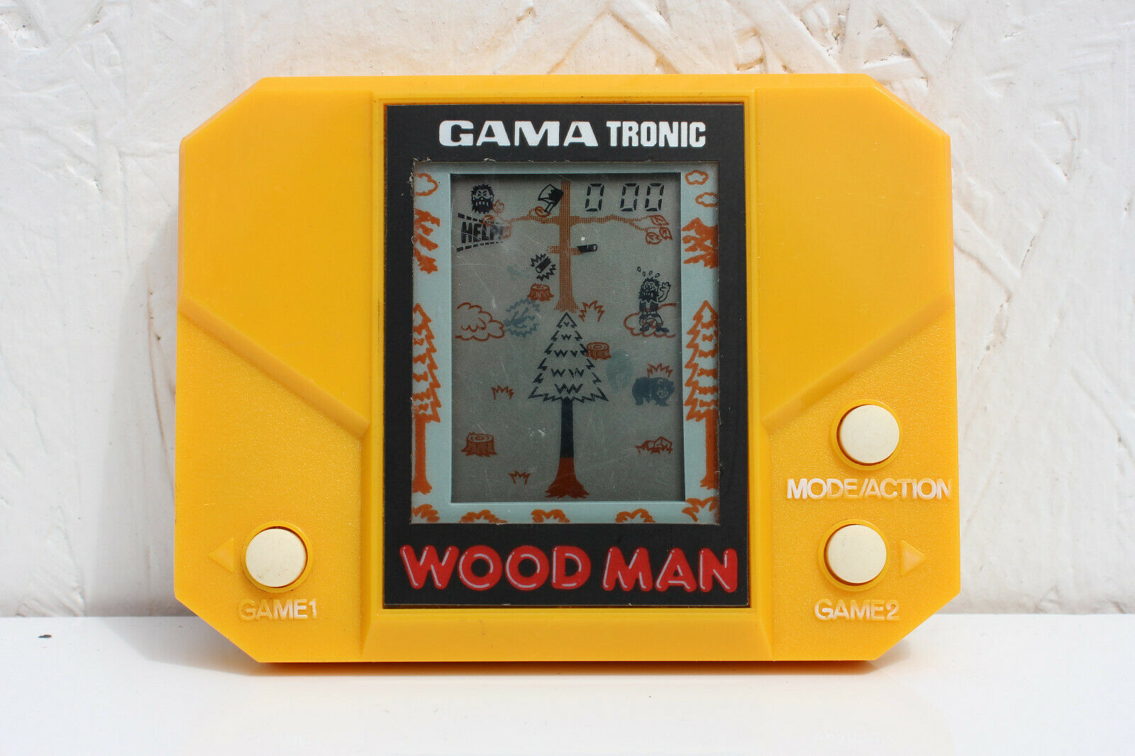 WOOD MAN GAMA TRONIC handheld electric  Video Game  Used Japan 1982 VTG works
