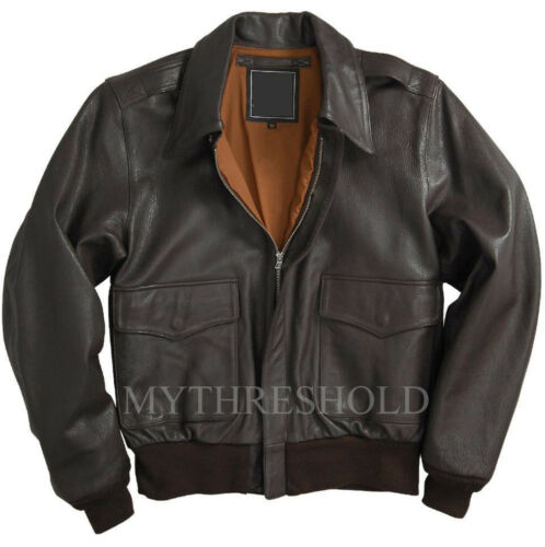 Flight Jacket 2 Men's A Leather Air Force Bomber PfRWqa6pW