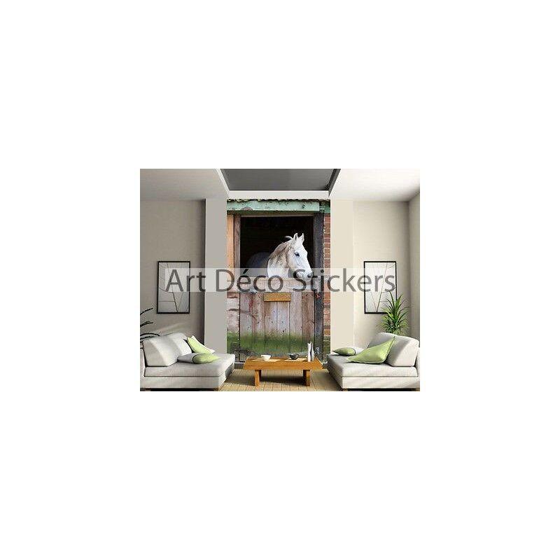 Adesivo Parete Gigante Cavallo 140x220cm Ref 156 27193844d038