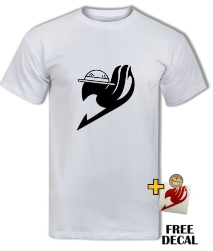 Fairytail One Piece Logo T shirt Luffy Hat Natsu Funny Anime Parody Tee Top Mens