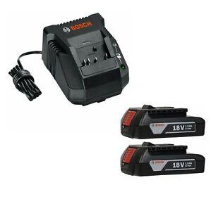BOSCH-BAT611-2-RT-2-Pack-18V-Li-ion-Slim-Pack-Batteries-amp-BC660-Battery-Charger