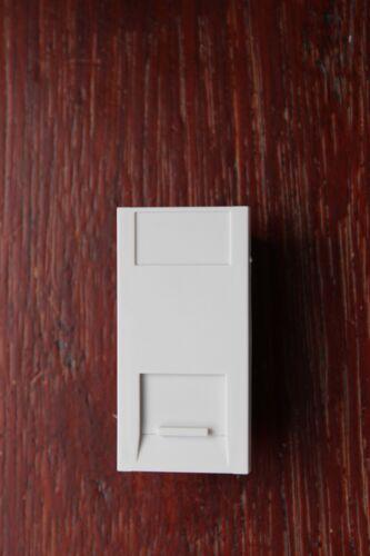 DETA S1431 Slimline 1 m Blanc Téléphone Secondaire Euro données Module 25x50