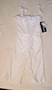 Cheap Sale Limited Too White Lace Sleeveless One Piece Pant Outfit 3t H2 Girls' Clothing (newborn-5t)