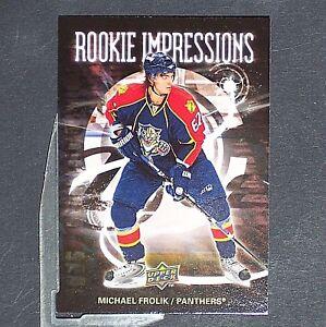 MICHAEL-FROLIK-RC-2008-09-Upper-Deck-Rookie-Impressions-RI1-Sabres-Flames