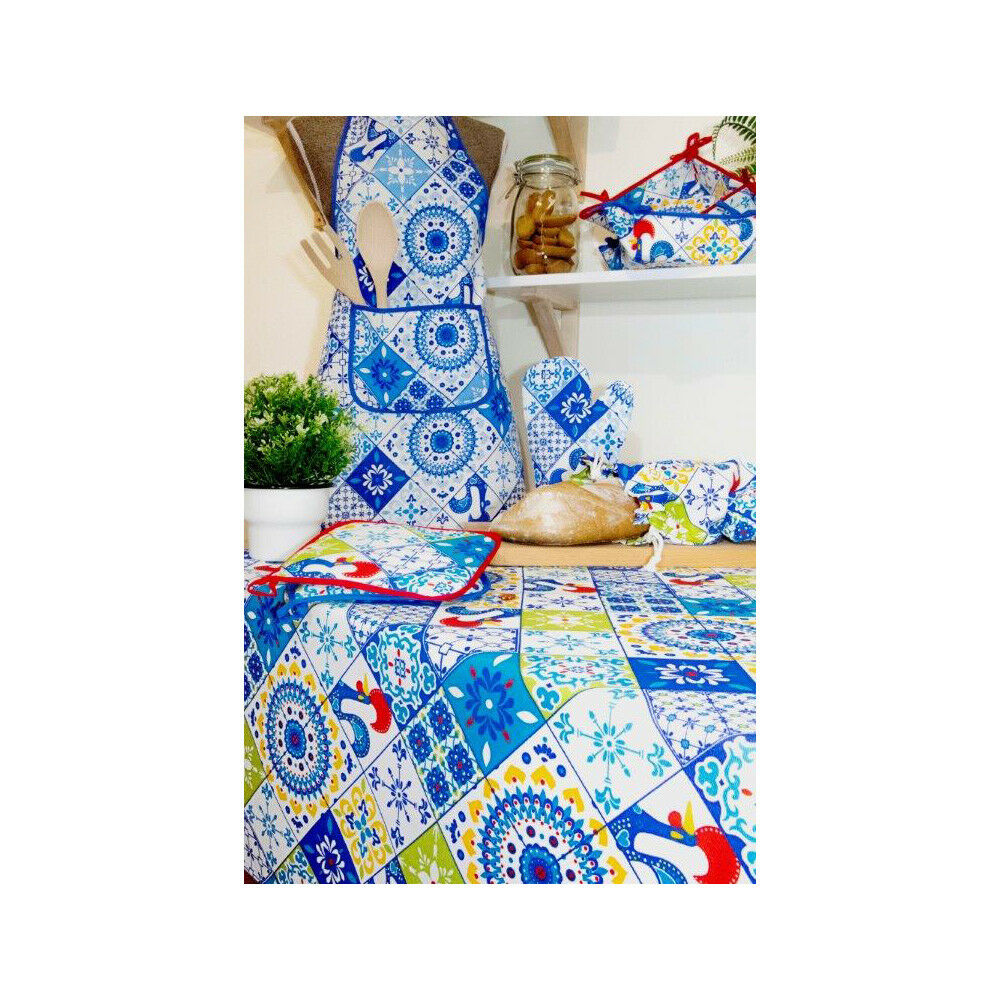 Limol 100% Cotton Portuguese Rooster Tablecloth Made in Portugal - Various Größes