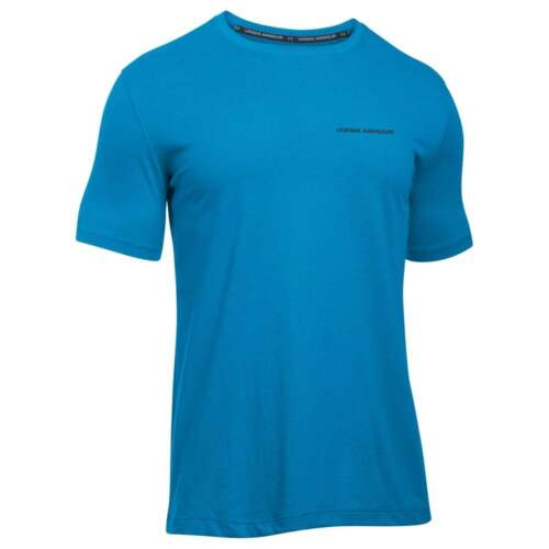 Size/'s M L XL NEW UNDER ARMOUR Men/'s Charged Cotton Short Sleeve Blue T-Shirt