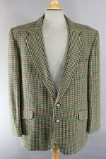 BRITISH MADE BLADEN SUPASAX PURE WOOL CHECKED BALMORAL TWEED JACKET 44 INCH