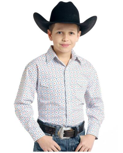 Panhandle Boys/' Rough Stock By  White Ramah Vintage Print Long Sleeve Western
