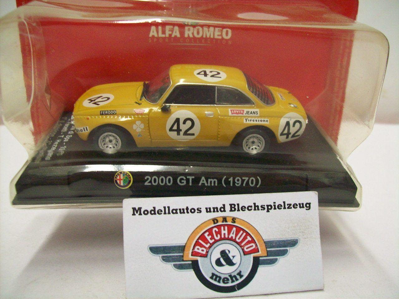 Alfa Romeo 2000 Gt at  42   Spa 1971  , Yellow Brown, Rcs 1 43, Boxed