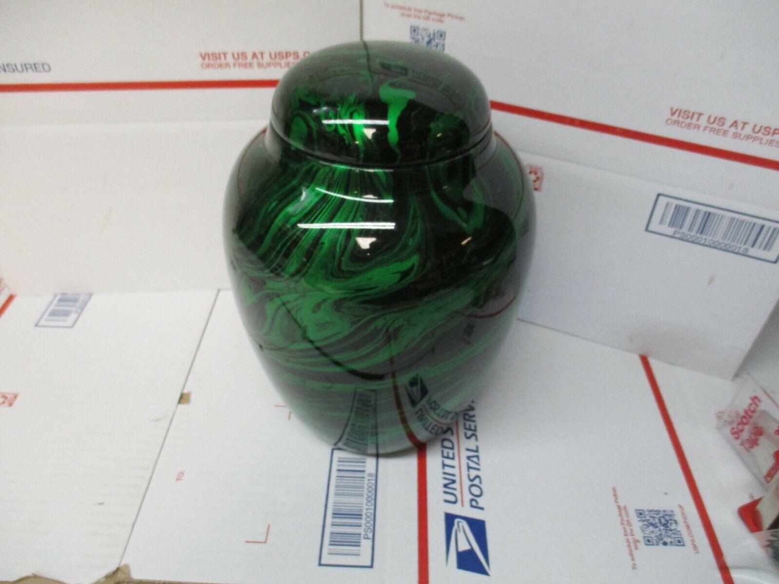 Adulto 210 pulgada cúbica Verde Fibra vidrio urna de la cremación NUEVO ENVÍO RÁPIDO/GRATIS