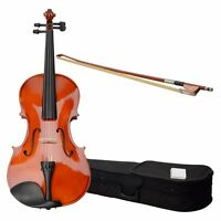 15 Nature Color Acoustic Viola With Case Rosin Bow For Adult Wood Color