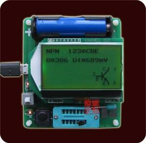 MG328-ESR-meter-Big-12864-LCD-inductor-capacitor-Tester-Diode-Triode-MOS-PNP-NPN