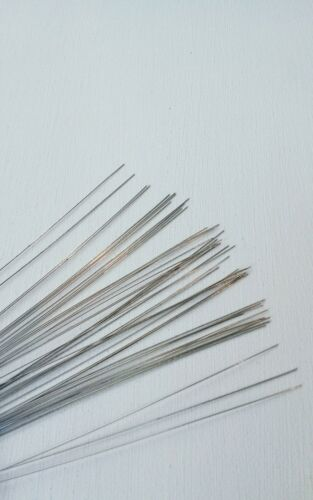 "Silver florist//craft wires 28gauge by 7/""L 250pcs"