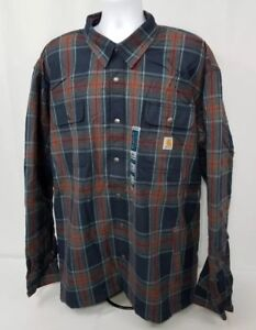 d2535d95af Image is loading Carhartt-102333-Hubbard-Sherpa-Lined-Plaid-Heavy-Flannel-