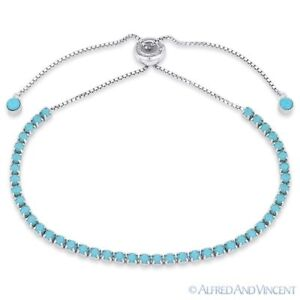 2-8mm-Turquoise-Blue-Nano-CZ-Crystal-Bolo-Tennis-Bracelet-in-925-Sterling-Silver