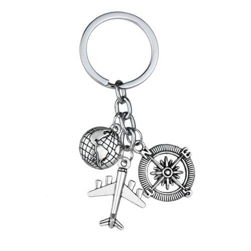Silver Keyring Gift Metal Heart Pendants Charm Key Chain Key Ring Steel Keychain