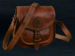 766c167d5d64 Image is loading New-Women-Vintage-Brown-Leather-Messenger-Cross-Body-
