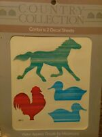 Meyercord Vintage Water Applied Decals Transfers Country Horse Rooster