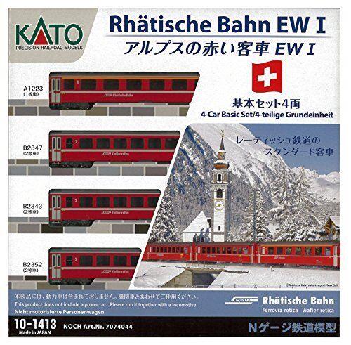 KATO 10 -1413 Rhatische Bahn EW I Schweiz Alpine 4 -bil Basic Set [N skala]