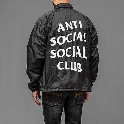 Anti Social Social Club Black Wind Breaker Coaches Jacket as worn by Kanye West