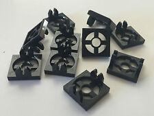 *NEW* 10 Pieces Lego BLACK MAGNET HOLDER TILE 2 x 2 x 1/3