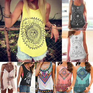 Women-Floral-Boho-Hippie-Tank-Top-Summer-Vest-Sleeveless-T-shirt-Loose-Blouses
